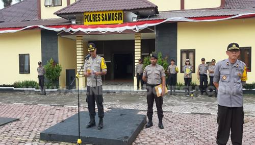 175 Polri Plus 50 TNI Dan 902 Linmas Siap Amankan 452 TPS Pada Pemilu 2019 Di Samosi