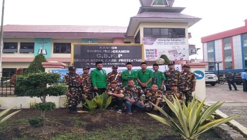 Ket foto : Pengurus PAC Ansor Kabupaten Karo di Gedung Moderamen GBKP Kabanjahe, Minggu (14/04) 2019