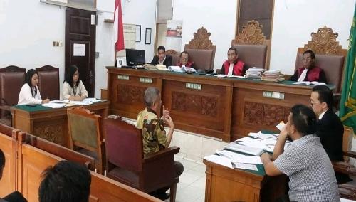 Foto : Dr.Rudi RusdiahBE,MA. Menjadi Saksi Dari Soegiharto Santoso untuk Sidang Perkara Perdata No.633pdt.G2018PN JKT.SEL.