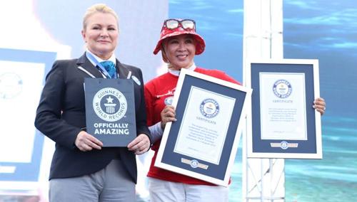 Ketua WASI Ibu Tri Tito Karnavian Menerima Piagam Penghargaan Guinness World Records Dari Solvej Malouf