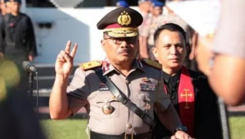 Pengambilan Sumpah Jabatan Wakapolda Sulut Brigjen. Pol. Drs. Alexander Marten Mandalika