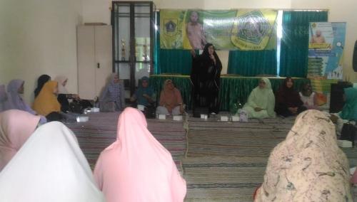 Ket foto. Suasana pengajian Rutin yang di programkan oleh pemerintah Desa Cileungsi kidul di dalam ruangan kantor Desa Cileungsi Kidul