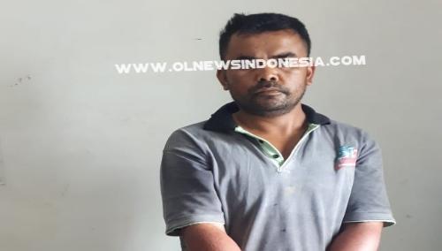 Ket foto : Terduga pemilik Sabu sabu saat di amankan Petugas di Polres Tanah Karo