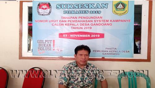Sumarno, Ketua panitia Pilkades Desa Gandoang
