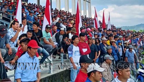 Ribuan Penonton Antusias Menyaksikan Lomba Pacuan Kuda HUT Kabupaten Sulut Ke-591