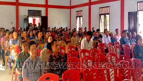 Masyarakat yg hadir yg merupakan Tokoh2 Masyarakat, BPD, LPM, Pemerintah Desa di Kec. Tompaso Raya