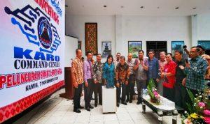 Kete foto : Bupati Karo Terkelin Brahmana melakukan launching smart city ke Dua Kecamatan di Karo dari Kantor Bupati Karo Kabanjahe, Kamis (07/11) 2019 (Ist).