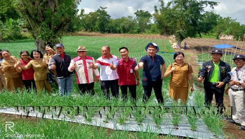 "Kepala Perhiptani, para Penyuluh Pertanian dan produsen benih dan pupuk di lokasi pengembangan veritas Bawang Merah jenis ""Lansuna"""