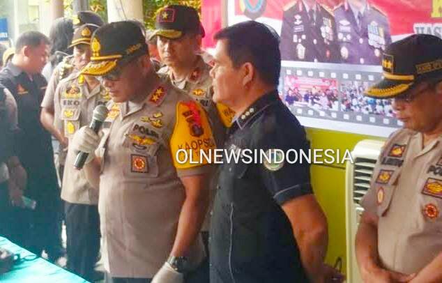 Ket foto : Kapoldasu Irjen Pol Martuani Sormin Siregar saat gelar Konferensi pers terkait temuan Narkoba di Mapoldasu beberapa waktu lalu (Ist)