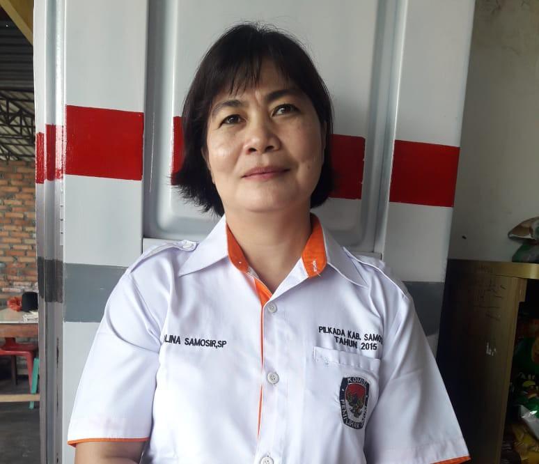 foto : Ketua KPU Kabupaten Samosir, Ika Rolina Samosir, SP