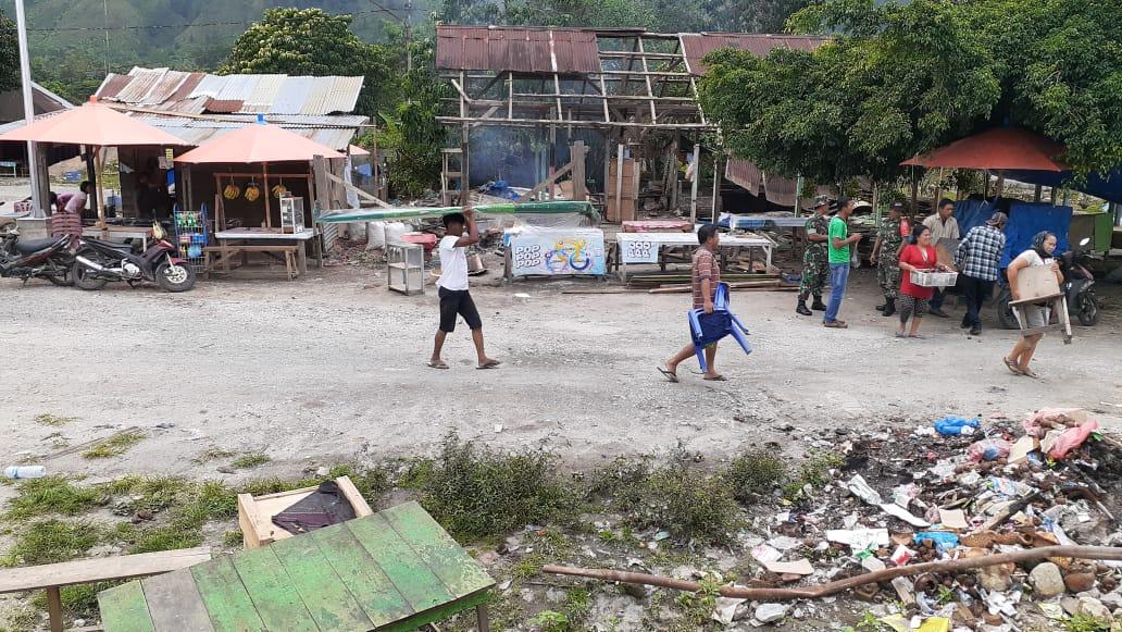 Foto : Masyarakat Sekitar Pembangunan Pelabuhan Feri Ambarita Samosir Tolak Relokasi