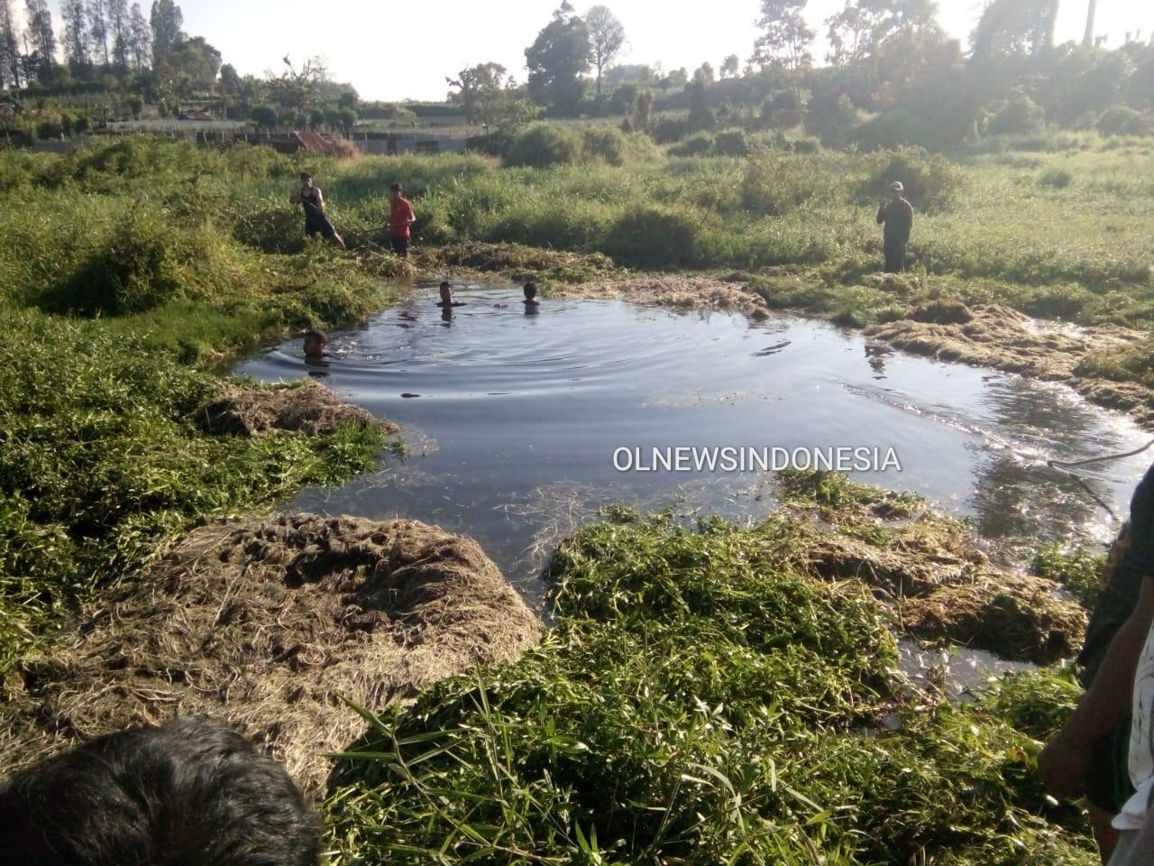 Ket foto : lokasi kejadian di gang Merga Silima Simpang Ujung Aji Brastagi Kabupaten Karo