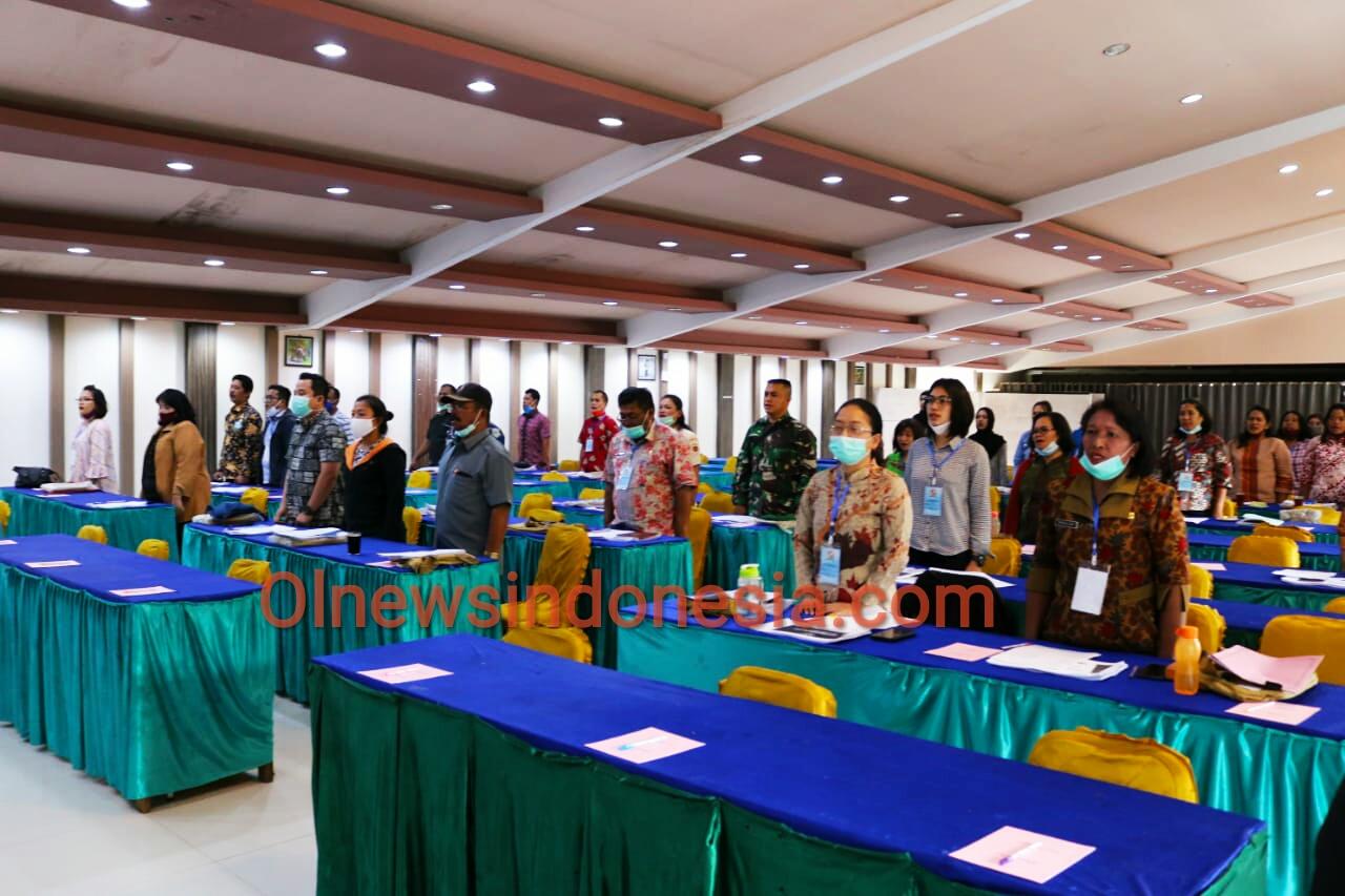 Ket foto  : Para peserta pelatihan Keprotokolan Kabupaten Karo Tahun 2020 di Aula Grand Orri Hotel Berastagi Kecamatan Berastagi Kabupaten Karo, Kamis (19/11) 2020 (Ist)